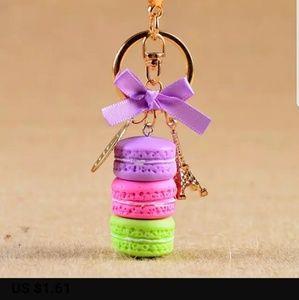 Accessories - New! Macaron Dessert Keychain